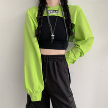 2020 New Spring&Autumn Sweatshirt Women Hoodie Harajuku Letter Casual Patchwork Streetwear