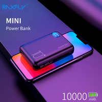 RAXFLY mi ni mi Power Bank 10000mAh podwójna przenośna ładowarka usb Powerbank dla Powerbank xiaomi zewnętrzna ładowarka do baterii 3 wejścia
