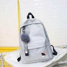 Teen Green Gray Schoolbag for Teenager Girls Black Nylon Women Bag School Casual High Student Book Backpack Female College
