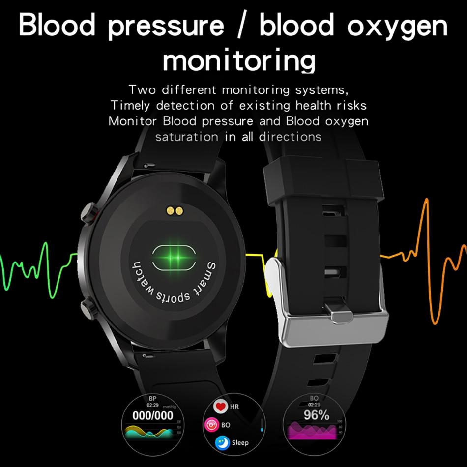 Hd8df30b8826548a5a65dde88a10ba269b LIGE 2021 New Full circle touch screen Mens Smart Watches IP68 Waterproof Sports Fitness Watch Man Luxury Smart Watch for men