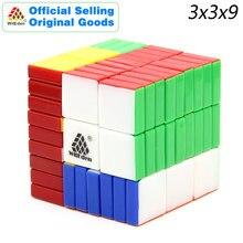 WitEden 3x3x9 magiczna kostka 339 V1 Stickerless profesjonalne Neo Speed Puzzle antystresowe zabawki edukacyjne dla dzieci