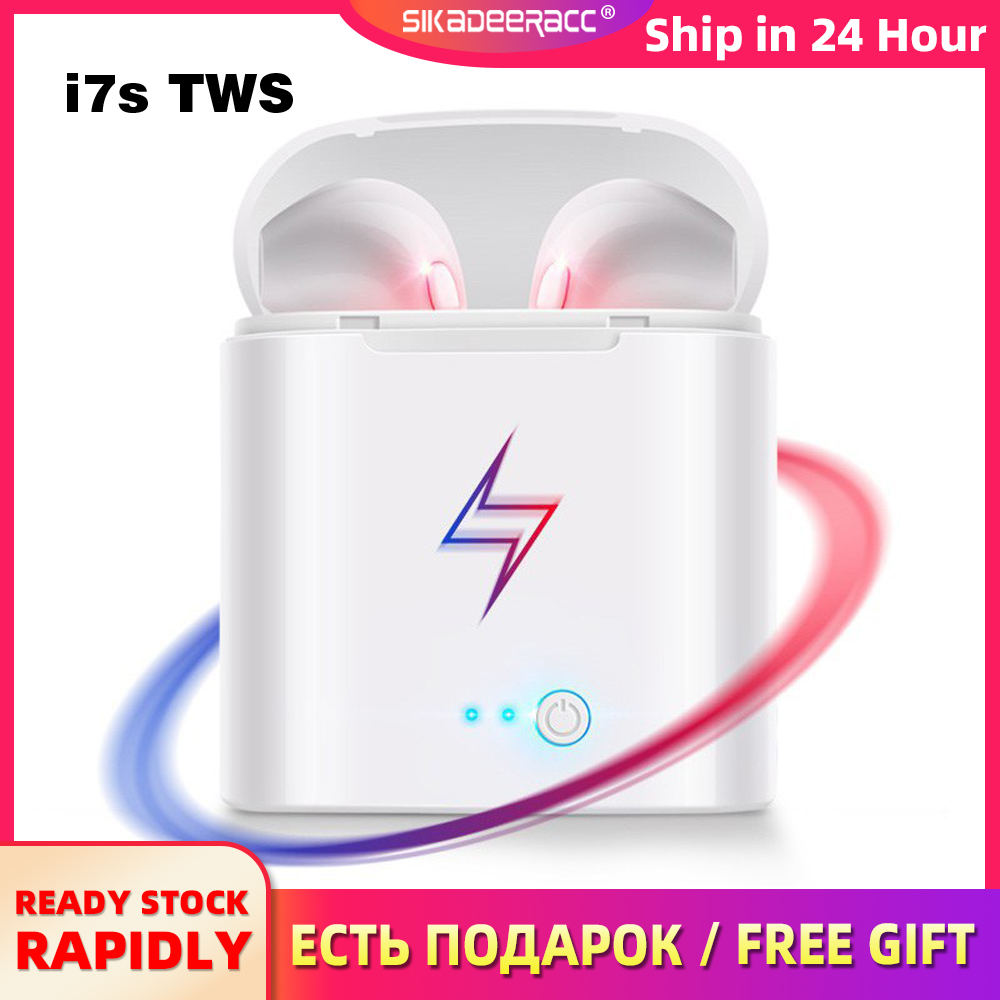 I7s Tws Bluetooth Earphones With Charging Box For Smart Phones Mini Wireless Earbuds Sport Handsfree Earphone Cordless Headset