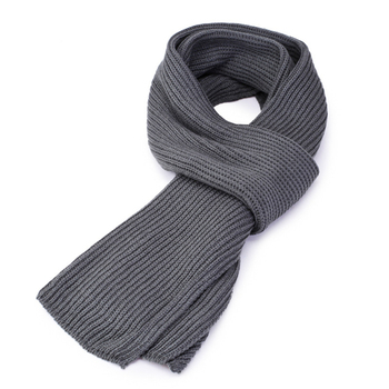 High Quality Men Fashion 2020 Winter Korean Pure Color Knitted Scarf Men's Simple Black Grey Warm Thickened Scarves pure color knitted infinity scarf