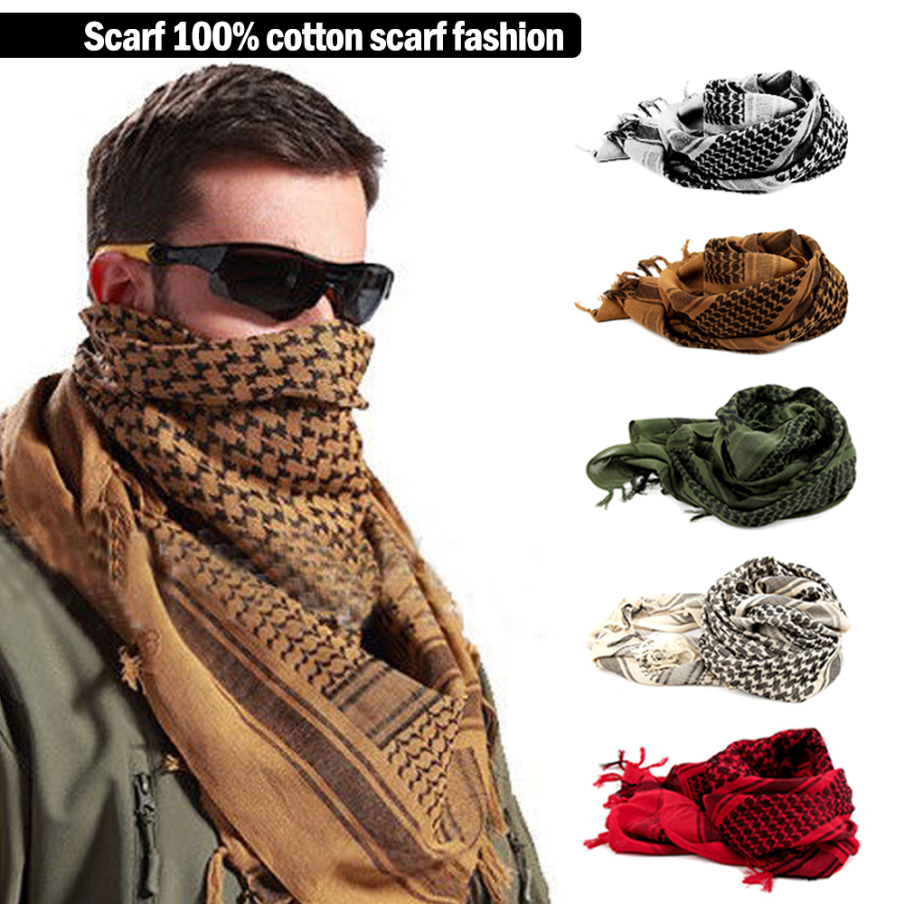 Men Square Outdoor Shawl Military Tactical Desert Army Shemagh KeffIyeh Fashion Scarf
