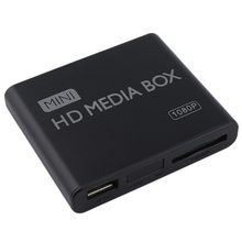Mini Media Player 1080P Mini HDD Media Box TV box Video Multimedia Player Full HD Mit SD MMC Karte reader 100Mpbs AU EU UNS Stecker(China)
