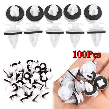 100pcs Auto Fastener Clip Door Panel Clips Car Body Push Retainer Pin Rivet Bumper With Seal Ring For BMW E30 E34 E36 E38 E46 X image