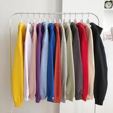 2020 Spring Autumn Hoodies Men New Fashion Casual Hoodies Loose Feece Hip Hop Streetwear Men's Hooded Sweatshirt Solid Color