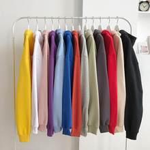 2020 bahar sonbahar Hoodies erkekler yeni moda rahat Hoodies gevşek polar Hip Hop Streetwear erkek kapşonlu kazak katı renk