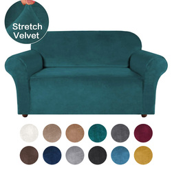 4 Types Velvet Sofa Cover for Living Room Elastic Sofa Slipcover Sectional Couch Cover Stretch Furniture Cover Case