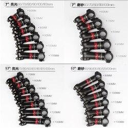 UNO 7 najlżejszy 7050 aluminium drogi mostek rowerowy wspornik rowerowy 31.8 80/90/100/110/120/130 -17 stopni-7 stopni