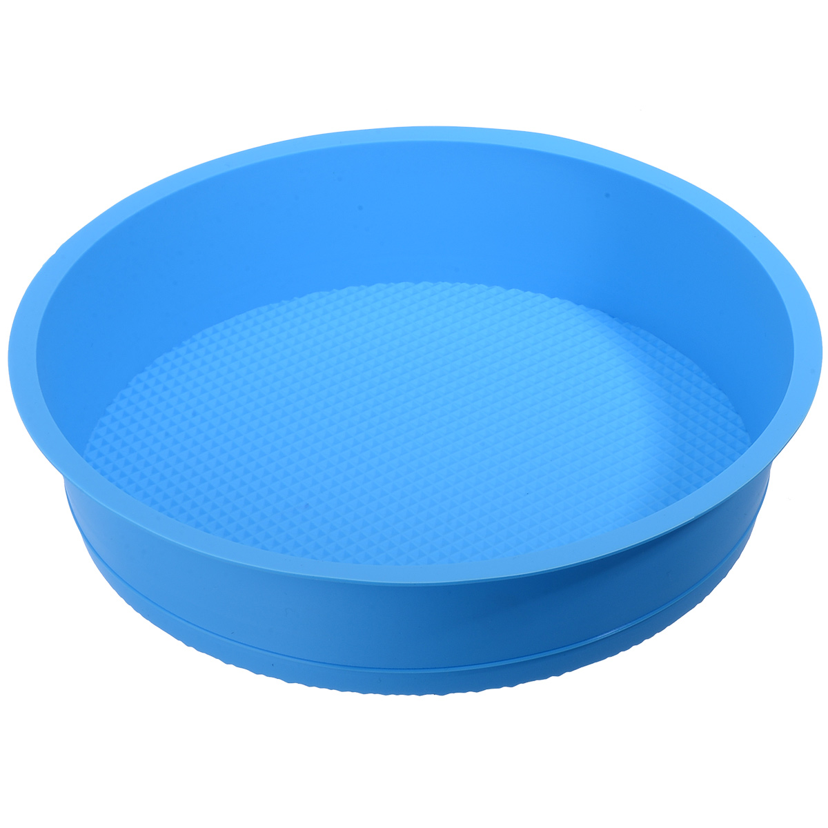26cm <font><b>Round</b></font> Birthday Cake <font><b>Mold</b></font> Silicone <font><b>Cheese</b></font> Cake Base <font><b>Mold</b></font> Tool Pastry DIY Baking Maker Tray <font><b>Mold</b></font> Random Color Kitchen Tool image