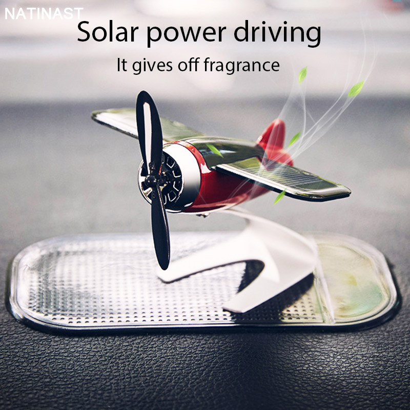 Car Air Freshener In Car Force Airplane with Non-slip Solar Power Driver off Aromatherapy Diffuse Smell in Car Decoration