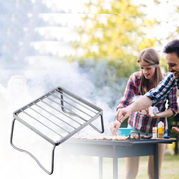 Christmas Family Party Outdoor Stainless Steel Portable Folding Barbecue Grill Garden Rack Lightweight Kitchen Tools