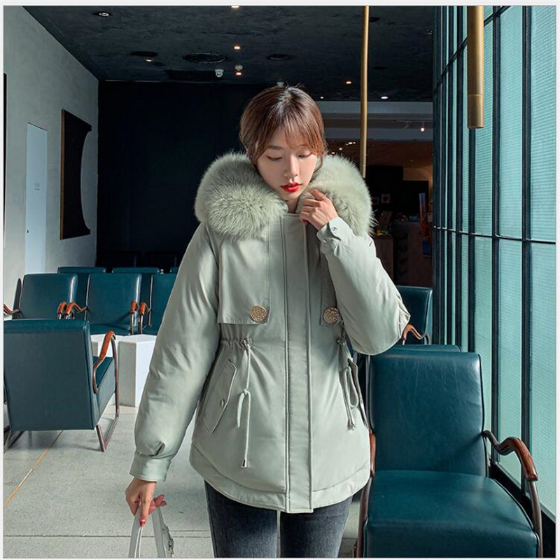 Women Winter Coat Thickening Cotton Female Winter Jacket Fashion short Womens Outwear Parkas For Women Winter 2020 Hot <font><b>G731</b></font> image