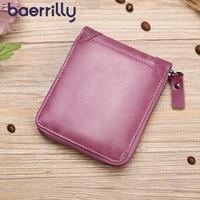 Rfid Lady Mini Card Holder Genuine Leather Women Wallet Femal Coin Purse Small Money Bag Carteira Feminina Women Clutch Wallet