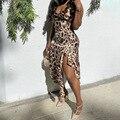 BKLD сезон весна; Новинка; Модная одежда с леопардовым принтом и оборками нерегулярные платье-бюстье с бретельками одежда для женщин вечерние...