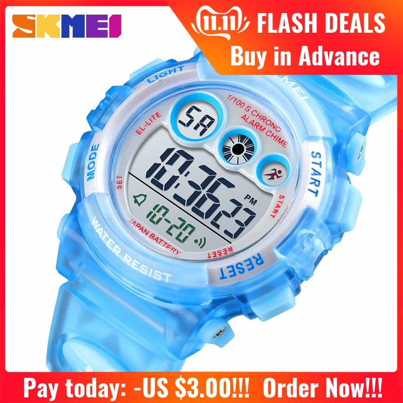 <font><b>SKMEI</b></font> <font><b>1451</b></font> Youngster Children Kids Digital Wrist Watches 50m Waterproof Electronic Wristwatch Boys Girls Backlight Watches image
