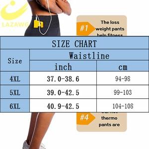 Image 5 - LAZAWG ネオプレンサウナショーツ女性のための減量汗パンツボディシェイパーレギンスプラスサイズ 4XL に 6XL