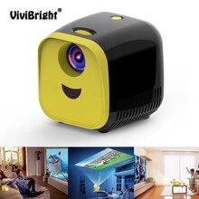 Mini projetor l1 vivibright de hd 1080p, mini projetor de desenhos animados para educação infantil, com suporte tf cartão do cartão