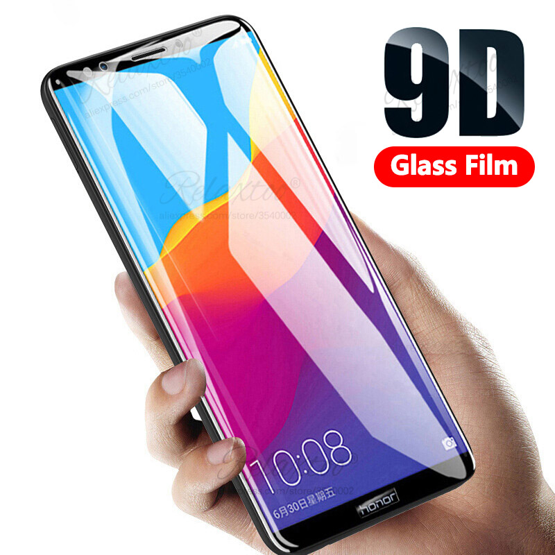 9D Curved Tempered Glass on For huawei Honor 7X 7A 7C Pro honor7a honor7c screen protector Hono 7 A C X Protective safety Film(China)