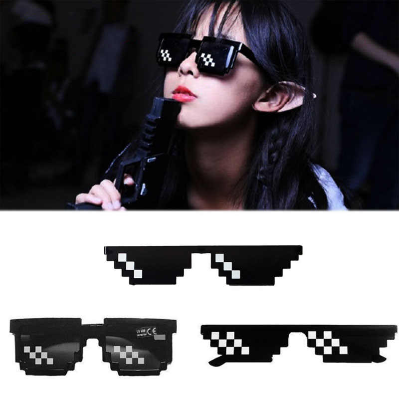 Women Men Square Sunglasses Eyewares Coding glasses Funny Glasses FashioQE