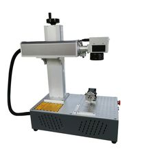 20w rotary axis attached fiber laser marking machine 110*110mm Raycus laser marking machine metal factory price for all metal цена 2017