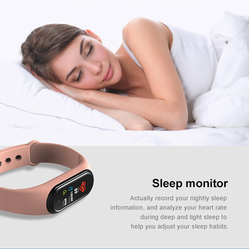 m4 smart band armb nder fitness tracker gesundheit herz rate blutdruck bluetooth sport armband. Black Bedroom Furniture Sets. Home Design Ideas