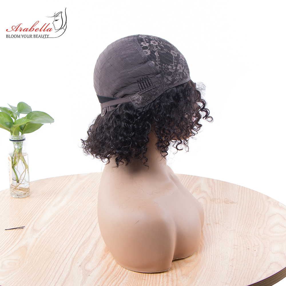 Jerry Curly Machine Wig 100%  Wigs 180% Density Natural  Hair Arabella Curly Hair Wig  5