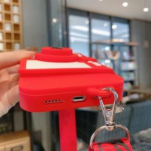 Image 5 - 3D Caméra Bandoulière Pour iPhone SE 2020 12 11 Pro Max X 10 XR 6 6s 7 8 Plus X Max Souple Porte Monnaie En Silicone Étui pour Téléphone