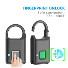 Rechargeable Smart Lock Keyless Fingerprint Lock Anti-Theft Security Padlock Door Luggage Lock FLP50
