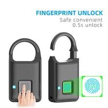 Rechargeable Smart Lock Keyless Fingerprint Lock Anti-Theft Security Padlock Door Luggage Lock FLP50