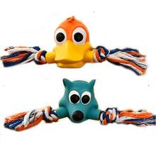 Pet Squeaky Chew Toys, Dog Bite-resistant Latex Duck Toy Aggressive Chewer Cleaning Teeth Supplies Products For Pup