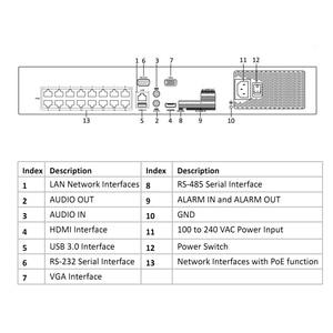 Image 2 - Hikvision POE DS 7732NI I4/16P 16CH H.265 12mp NVR POE para cámara IP soporte de Audio bidireccional HIK CONNECT