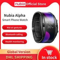 Nubia-reloj inteligente Alpha versión Global, pulsera con pantalla Flexible y plegable de 4,01 pulgadas, Snapdragon 8909W, llamadas por Bluetooth