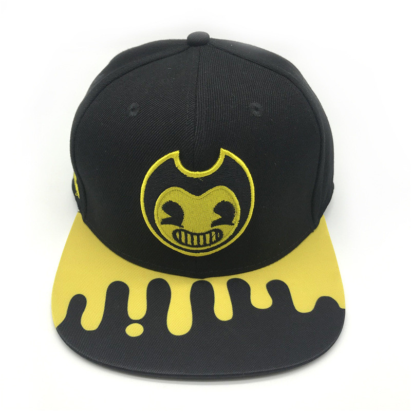 New Anime Bendy And The Ink Machine Cosplay Bendy High Quality Headdress Hat Sunhat Peaked Cap Adult Child Clothing Accessories