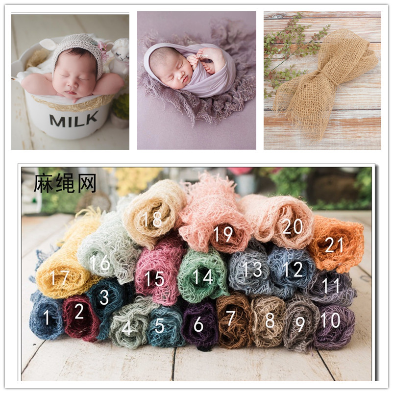 Newborn Colorful Jute Layer Photography Props,baby Photography Props