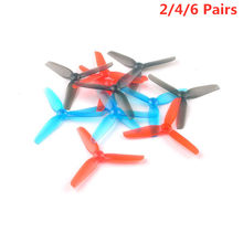 2/4/6 Pairs Happymodel 65 Mm 2.5 Inch 3-Blade Propeller 1.5 Mm As Cw & ccw Voor Tandenstoker Larve X Hd Rc Drone Fpv Racing Parts(China)