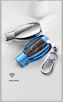 High Quality Car Key Case Cover Bag TPU For Mercedes Benz C E S Class W203 W204 W205 W211 W212 W213 W220 W221 W222 With Keychain