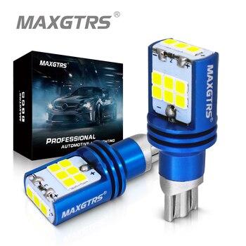 2x T15 W16W LED Wedge Bulb Led Lamp Light Canbus 921 912 1000LM Automobiles Backup Reverse Turn Signal Light Lamp 6000K 12V