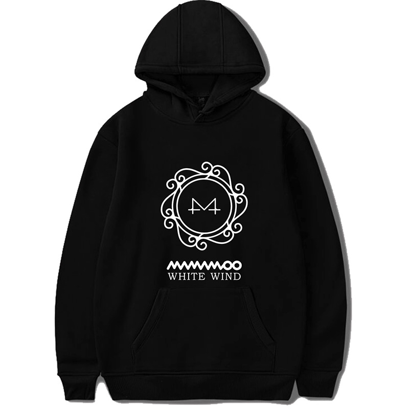 KPOP MAMAMOO Album WHITE WIND Wheel In Same Hoodie Plus Velvet Loose Men And Women Youth Casual Wear Dropshipping