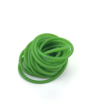 Green Natural Latex Slingshots Yoga Rubber Tube 0.5-5M For Hunting Shooting High Elastic Tubing Band Accessories 2X5mm Diameter 2