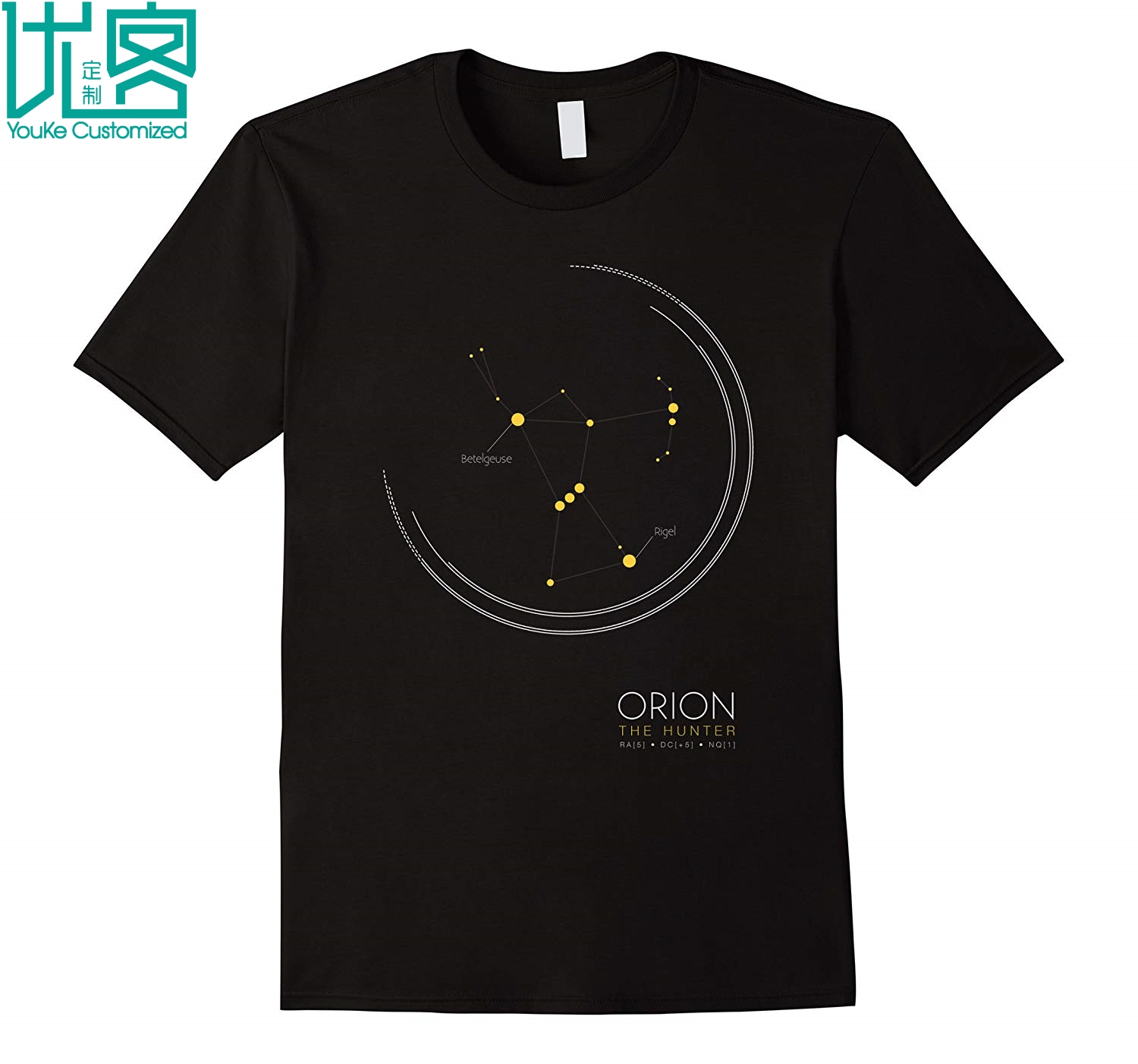 Camiseta de manga curta de orion the hunter constellation t para nerds da ciência 2019