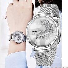 2019 NEW BENYAR Super thin mesh stainless steel watches women Top brand luxury casual clock ladies wristwatch Relogio Feminino все цены