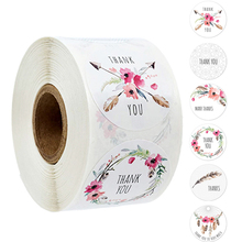 100-500PCS Round Gift Card Envelope Seal Sticker Kraft Paper Self-Adhesive Paper For Homemade Bakery And Gift Wrapping Scrapbook