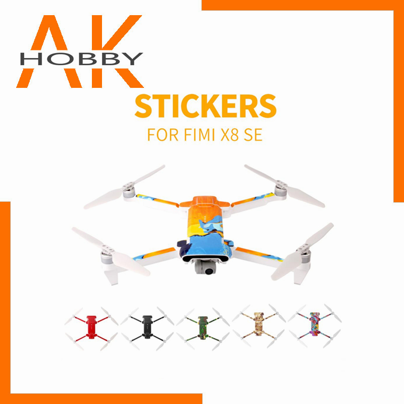 Sunnylife PVC Waterproof Sticker for Fimi X8 SE Drone Body Shell Protection Skin Quadcopter Camera Drone Decals Accessories