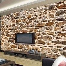 Изготовление размеров под заказ росписи Винтаж Ностальгический 3D рельеф камень текстурная живопись Гостиная исследование Ресторан самокл...