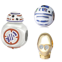 SG the movie  theme show Robot Beads collection 925 Silver diy Charm Fit Original pandora Bracelet Jewelry accessories