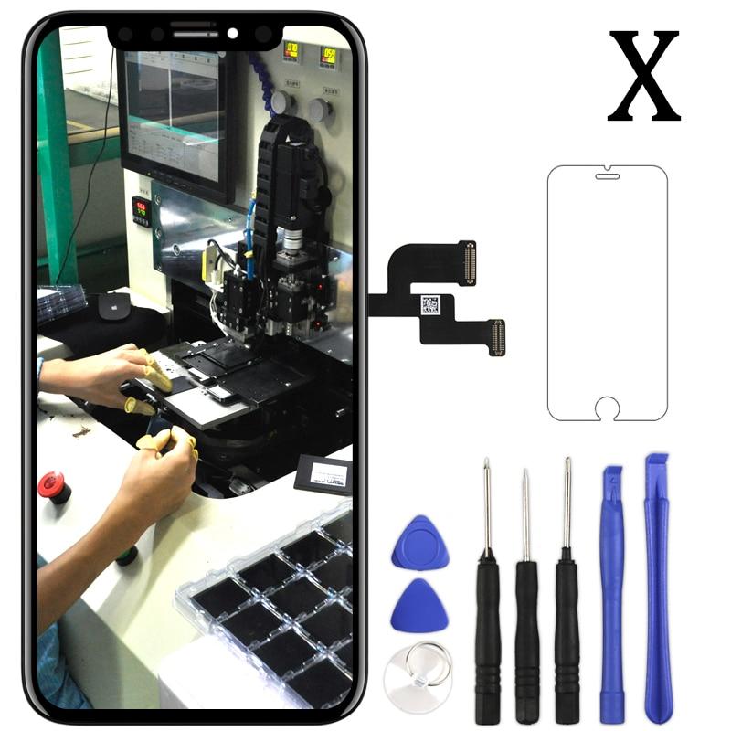Pour l'iphone X XR XS XS Max affichage à cristaux liquides pour Tianma AMOLED OEM LCD avec numériseur Alibaba Express pour l'assemblage d'écran LCD iphone X