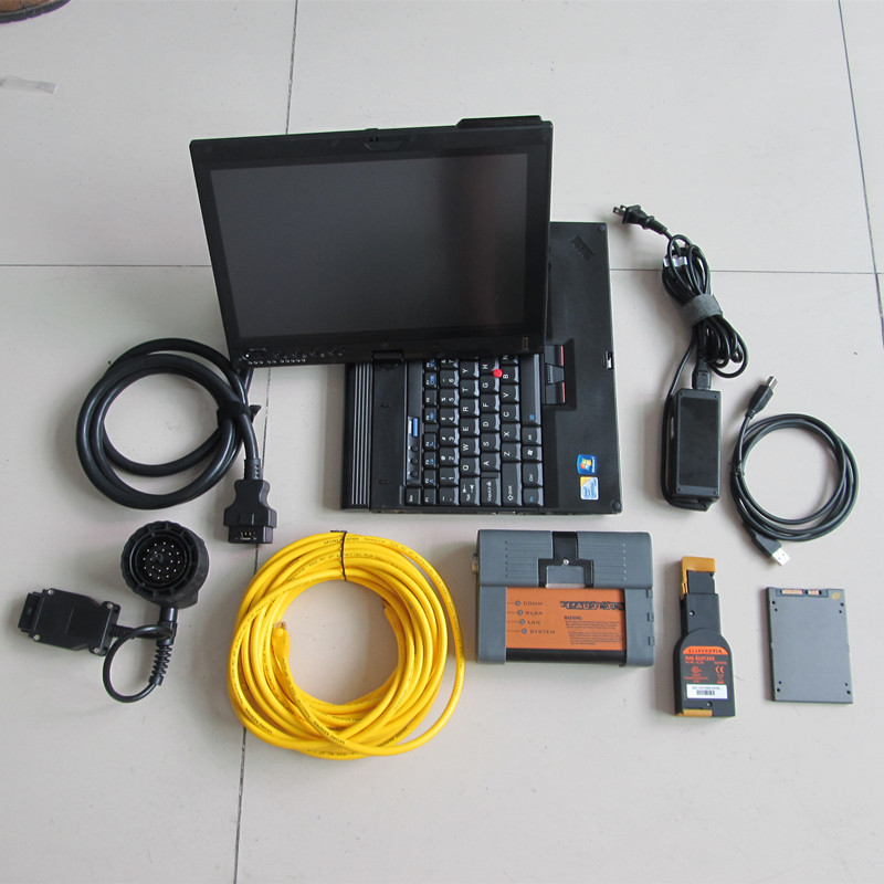 auto <font><b>diagnostic</b></font> scanner profesional 2020 for <font><b>bmw</b></font> icom a2 with software super ssd 720gb computer x201t i7 4g laptop windows7 image