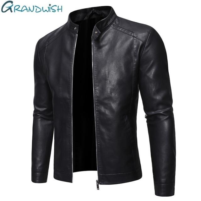 Men Faux Leather Jacket Motorcycle 5XL Men's  Jackets Black  Jaqueta De Couro Masculina Outwear Male PU Leather Coats Mens,ZA319 1